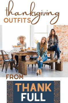 There are three distinctly different types of people. The kind that show up to Thanksgiving dinner in sweats, a sweater or their best dress. We love and accept all three of you! Read below to see our picks and shop for each style preference! (Fashion Tips & Tricks, How To, Cute Outfit Ideas) Thanksgiving Outfit, Happy Thanksgiving, Different Types Of People, Love Fashion, Fashion Tips, Cute Casual Outfits, Jean Outfits, Industrial Style, Plus Size Outfits