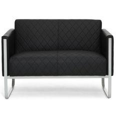 Lounge sofa garten grau  Poly-Rattan 2er Lounge-Sofa ANCONA, Geflecht RUND, ALU-Gestell ...