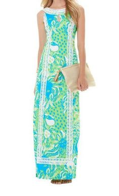 Lilly Pulitzer Forsyth Maxi Shift Dress  Oh what I would do for a Lilly Pulitzer Dress!!! Effortlessly classy and preppy, clean and neat, and overall stunning. - Cheyanne