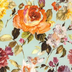 One of the latest fabrics from Maxwell's Spring 2015 Collection. We love everything about Abloom. Floral Upholstery Fabric, Floral Fabric, Floral Prints, Aqua, Big Flowers, Wave Pattern, Wall Design, Fabric Design, Floral Design