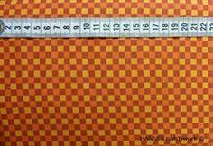 Orange gul ternet Patchworkstof - er et meget flot patchworkstof med orange og og gule tern.