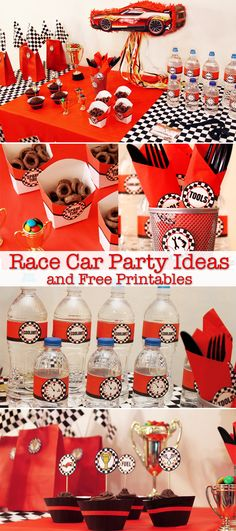 Race Car Birthday Party New Race Car Party Ideas and Free Printables Growing Up Hot Wheels Birthday, Hot Wheels Party, Race Car Birthday, 2nd Birthday, Birthday Ideas, Happy Birthday, Disney Cars Party, Disney Cars Birthday, Cars Birthday Parties
