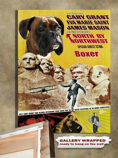 Boxer Dog Vintage Movie Style Poster Canvas Print  by NobilityDogs, $55.90
