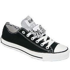 Converse double tongue shoes