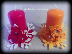 Candele Christmas Design, Christmas Crafts, Christmas Decorations, Big Shot, Plastic Spoon Crafts, Shots Ideas, Candle In The Wind, Candle Making, Pillar Candles