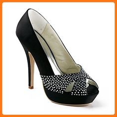 Minitoo , Damen Pumps Schwarz Black-12cm Heel (*Partner Link)