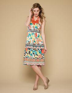 Acapulco Printed Dress | Multi | Monsoon