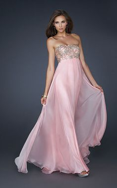 La Femme 17696 Pink Strapless Sparkly For Winter Formal Dress