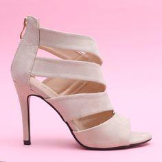 Sandale cu toc Carmona bej Heeled Mules, Peeps, Peep Toe, Casual, Shoes, Fashion, Sandals, Moda, Zapatos