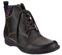 Cabin fever. Rustic, rural, and right on trend, these leather ankle boots from…