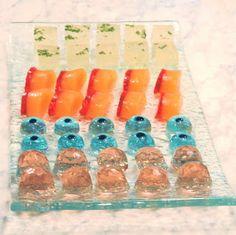 Jelly Shot Test Kitchen: Halloween Festivities tequila sunrise finger shots