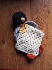 Ravelry: Penguin Security Blankie Lovey Doll pattern by Heather Jarmusz