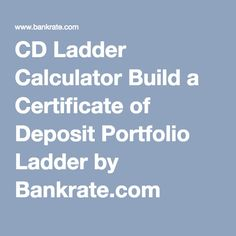 How To Build A Cd Ladder  Retirement