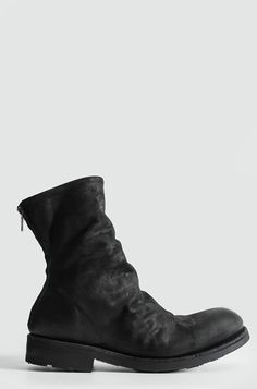 Corium // THE LAST CONSPIRACY | Back zip washed leather boots | Women