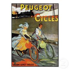 Peugeot Cycles - Vintage Bicycle Poster