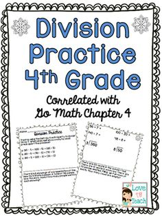 7 pages of division practice review (only a couple questions per page so students have enough room to show their work) and 10 division math task cards that would be great laminated for dry erase practice.  The division included is with and without remainders with a couple questions that review multi-step word problems with multiplication. Teaching Division, Math Division, Multiplication And Division, Remainders, Go Math, Math Task Cards, Couple Questions, Word Problems, Fourth Grade