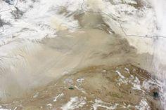 Taklimakan Desert Dust Storm  : Natural Hazards : NASA Earth Observatory 04/01/2015 no joke