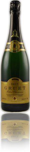 Gruet Brut, sparking wine from New Mexico (of all places!)  know for it's classic, crisp style with rich complexity and a fine mousse.  (Sunshine in a glass!)