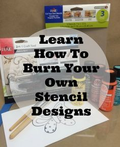 DIY Stencils with 2-in-1 craft tool. Have you ever wanted to create your own stencils, but felt you cannot be trusted behind the sharp blade of a craft knife? #plaidcrafts