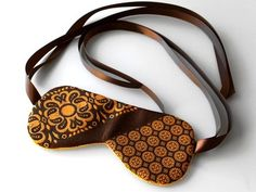upcycled tie into sleeping eye masks