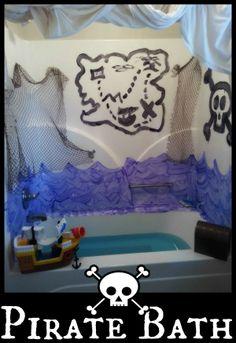 Pirate Bath ~ Bath Activities for Kids Pirate Day, Pirate Theme, Bath Tub Fun, Bateau Pirate, Activities For Boys, Winter Activities, Best Bath, Sensory Play, Bath Time