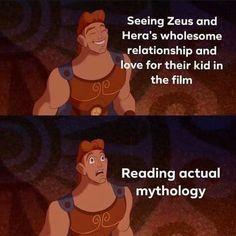 Percy Jackson Art, Percy Jackson Memes, Percy Jackson Fandom, Really Funny Memes, Stupid Funny Memes, Funny Relatable Memes, Greek Mythology Humor, Roman Mythology, Zeus And Hera