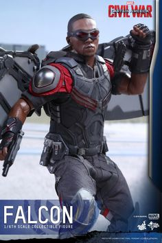 Hot Toys Captain America Civil War: Falcon 1/6 Scale Collectible Action Figure In the epic blockbuster, Captain America: Civil War, the Marvel Cinematic Universe will be divided when fans' favorite...