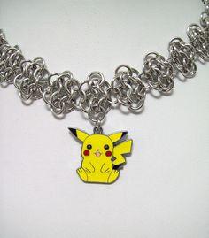 Pokemon necklace Pikachu geek jewelry geeky by Eternalelfcreations, $40.00  see their online store here:  www.etsy.com/shop/eternalelfcreations