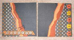 #papercraft #scrapbook #minialbum: Dog Album - Page 2-3 (made by Stephanie Hackney/PaperCrafter's Corner)