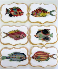 Fish Cookies by BakeMePretty on Etsy, $36.00