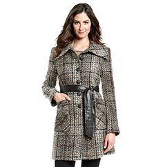 DKNY Single Breasted Textured Jacket at www.bonton.com Women's Coats, Single Breasted, Coats For Women, Couch, Sweaters, Jackets, Clothes, Dresses, Fashion