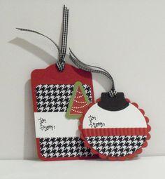 Houndstooth Alabama Crimson Tide Gift Tags by CraftsbyBeth on Etsy