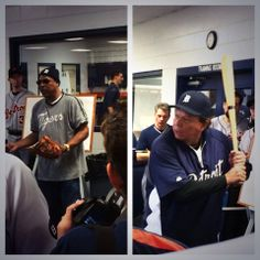 """1/27/14 - """"Sweet Lou"""" Whitaker and Darrell Evans were at #Tigers Fantasy Camp today to talk fielding and hitting."""