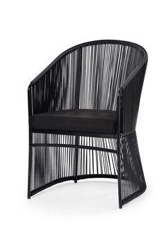 Tibidabo armchair design Calvi & Brambilla Aluminium frame and hand woven man-made fibre