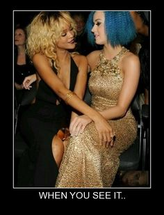 Photo of Rihanna and Katy Perry Funny Cute, The Funny, Hilarious, Your Best Friend, Best Friends, Friends Family, When U See It, Katy Perry, Make Me Smile