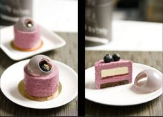 postres gourmet - Google Search Mini Desserts, Plated Desserts, Homemade Raspberry Jam, Biscuits, Mousse, French Patisserie, Tiny Food, Little Cakes, Pastel