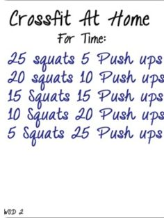 WOD - Replace push ups with burpees during overlap of squat and burpee challenges