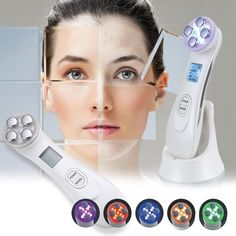 Ultrasonic Electronic Beauty Instrument Facial Massager Whitening Remove Wrinkle Acne Fat Burn SPA Face Skin Care Tool Skin Lift