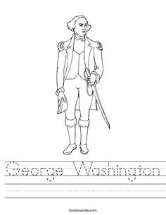 Presidents Song | George Washington Standing Worksheet
