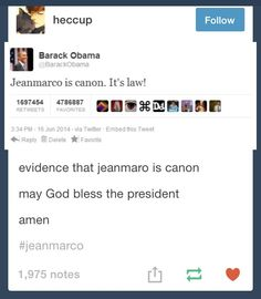 Obama's approval of the JeanMarco ship
