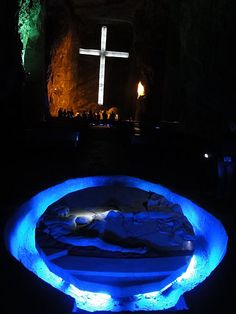 The Salt Cathedral of Zipaquirá is an underground Roman Catholic church built within the tunnels of a salt mine 200 meters underground in a Halite mountain near the town of Zipaquirá, in Cundinamarca, Colombia.