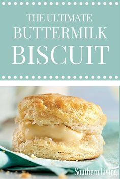We baked hundreds of biscuits until we found our all-time favorite, no-fail buttermilk biscuits recipe that will impress new cooks and old pros alike. My Recipes, Cookie Recipes, Dessert Recipes, Desserts, Bread Recipes, Quick Dessert, Recipies, Southern Biscuits, Southern Style Buttermilk Biscuit Recipe