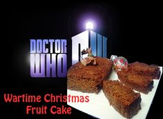 Christmas Fruit Cake and Angel Wings for the Time of the Doctor Who