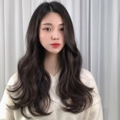 Korean Haircut Long, Korean Wavy Hair, Korean Hairstyle Long, Asian Haircut, Asian Short Hair, Long Asian Hairstyles, Haircuts For Long Hair, Permed Hairstyles, Pretty Hairstyles