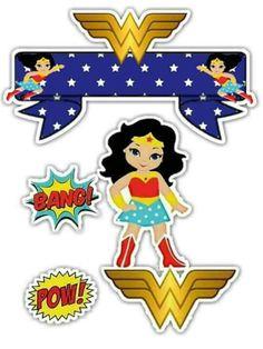 Wonder Woman Cake, Wonder Woman Birthday, Wonder Woman Party, Birthday Woman, Anniversaire Wonder Woman, Candy Bar Labels, Bird Party, Superhero Party, Ladies Party