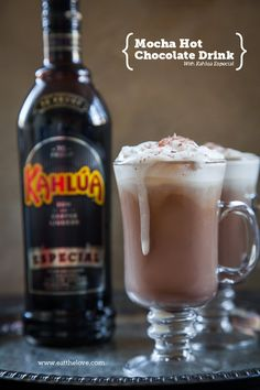 Mocha Hot Chocolate Recipe with Kahlúa Especial. Photo and recipe by Irvin Lin of Eat the Love.