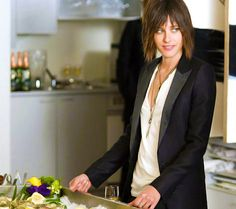 Katherine Moennig I love how she pulls off this look with such casual ease. I especially love the jacket!