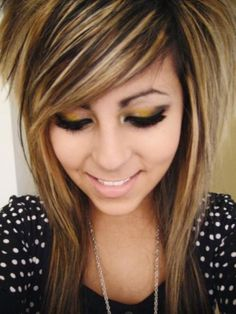 emo+hairstyles+for+girls+with+highlights