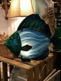 Fish lamp at Cracker Barrell