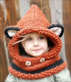 Fox Cowl   This foxy hat is the perfect accessory to keep your head, neck and shoulders from freezing.